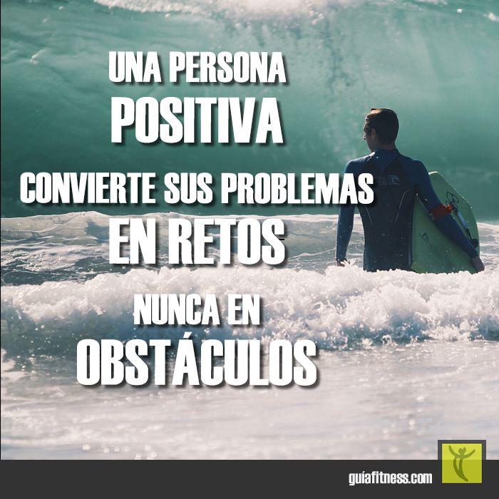 Convierte tus problemas en #retos, nunca en #obstáculos #motivación #frases #quotes #fitness #motivation #guiafitness #goals #challenge