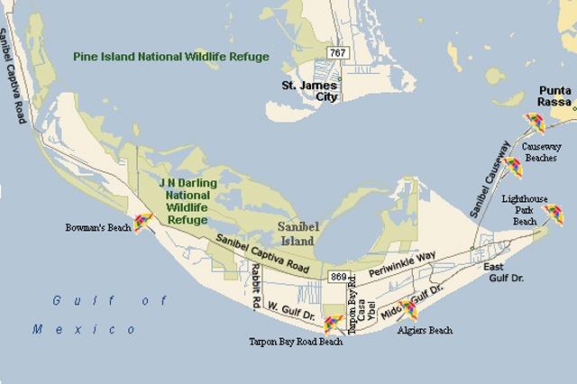Sanibel Island Map: Top 154 Ideas About Sanibel And Captiva Island On