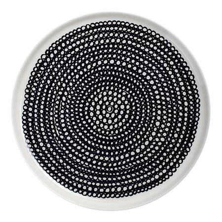 Marimekko - Siirtolapuutarha, Black + white plate