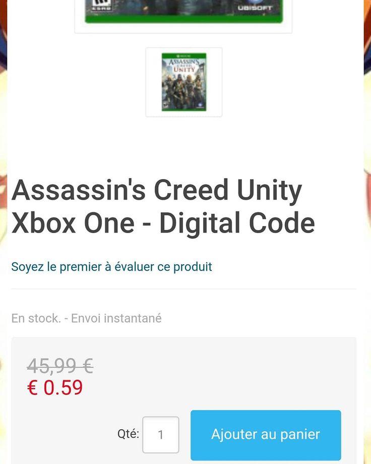 59 centimes Assassin's Creed Unity Xbox One sur cdkeys. J'ai déjà pris dessus il y a aucune arnaque.   #celibataire #asmonaco #retrogaming #retrogame #Jeux #Jeuxvideo #joueur #jouer #videogames #Games #gaming #gamer #Geek #geekfr #XboxOne #xbox #xboxfr #xboxfrance #Microsoft #sony #nintendo #starwars #japon #manga #assassinscreed #dragonballz #onepiece #naruto #fairytail #dragonballsuper