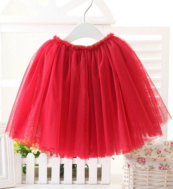 Red Tutu Skirt 1-10Y