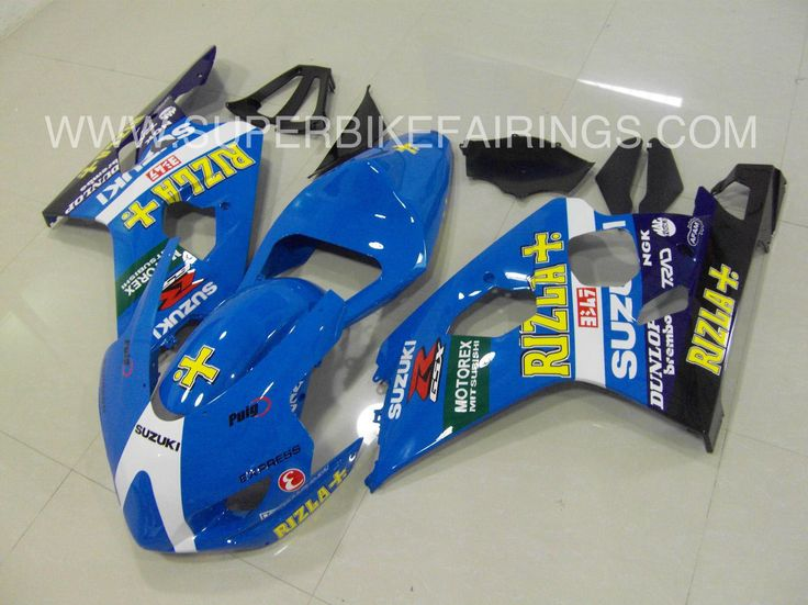 2004-2005 GSXR-600 750 Blue Rizla Fairings