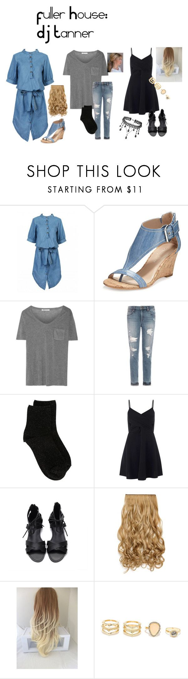 """DJ Tanner: Fuller House"" by merry-458 ❤ liked on Polyvore featuring Donald J Pliner, T By Alexander Wang, Joe's Jeans, Erika Cavallini Semi-Couture, Miss Selfridge and LULUS"
