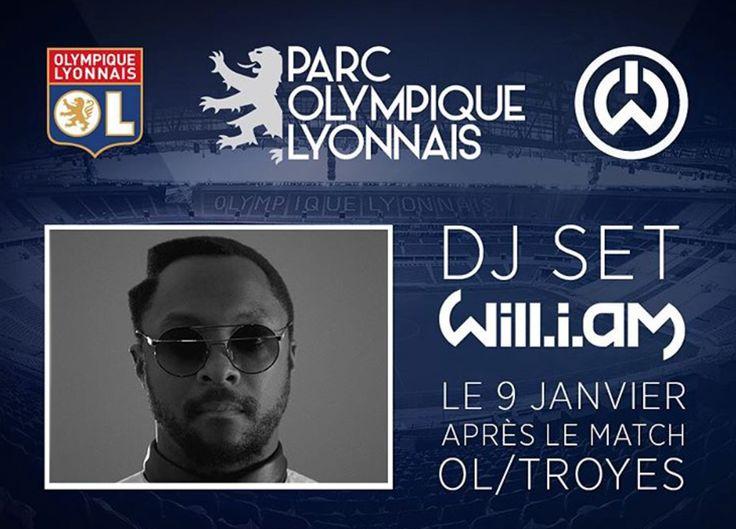 Le chanteur #WillIAm inaugurera avec l'olympique Lyonnais leurnouveau stade à Décines-Charpieu #foot