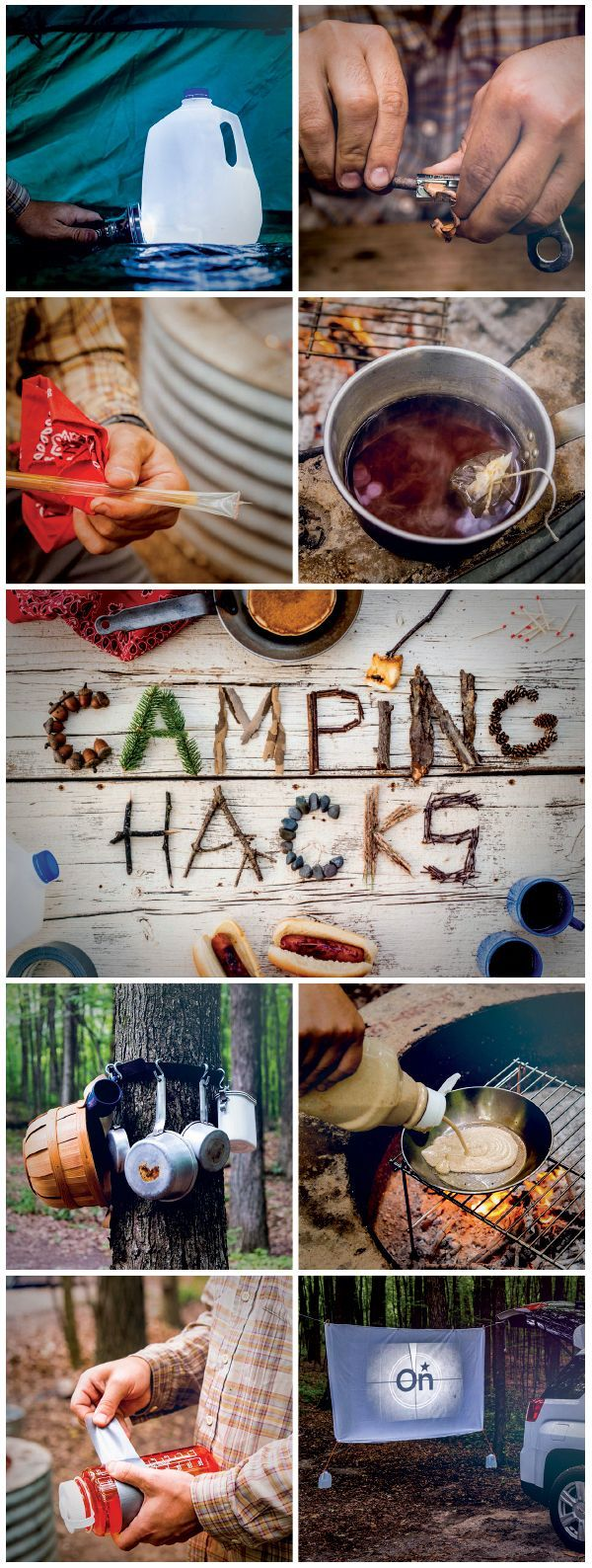 #Camping #tips and tricks that will change the way you #camp forever! See them here a list of great camping hacks!
