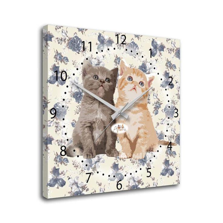 Apolena Meraklı Kediler Kanvas Saat :: GelKardesimGel.com