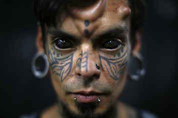Tattooed Eyeballs Among Incredible Sights On Show At Venezuelan Tattoo Convention