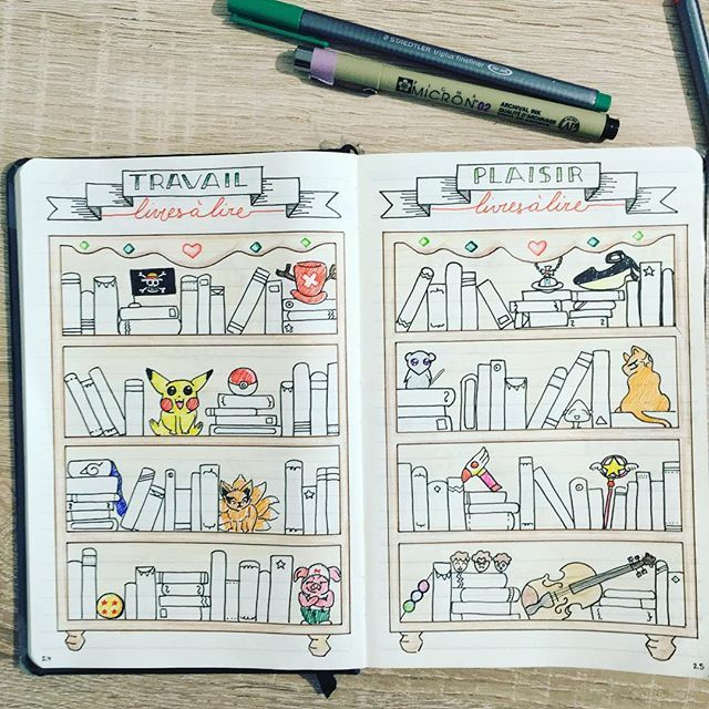 Bullet journal - books double page