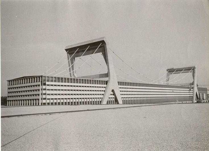 PIER LUIGI NERVI paper factory, Mantua, early 1960s, just ceased production
