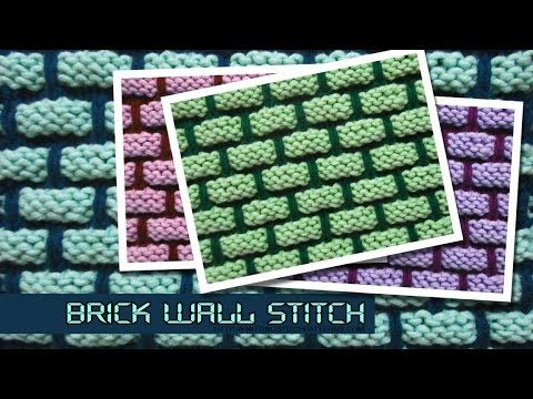 Youtube video how to knit the Brick Wall Stitch - 3D effect