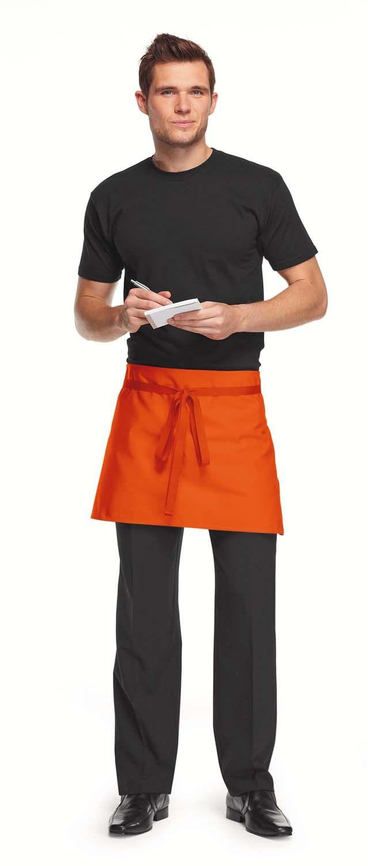 Short Apron Orange Restaurant Uniform Pinterest