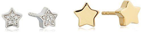 Fossil Sterling Silver Star Stud Earrings