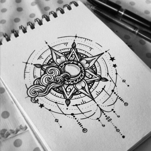 Compass mandala dreamcatcher sun www.behance.net/politalandaeta