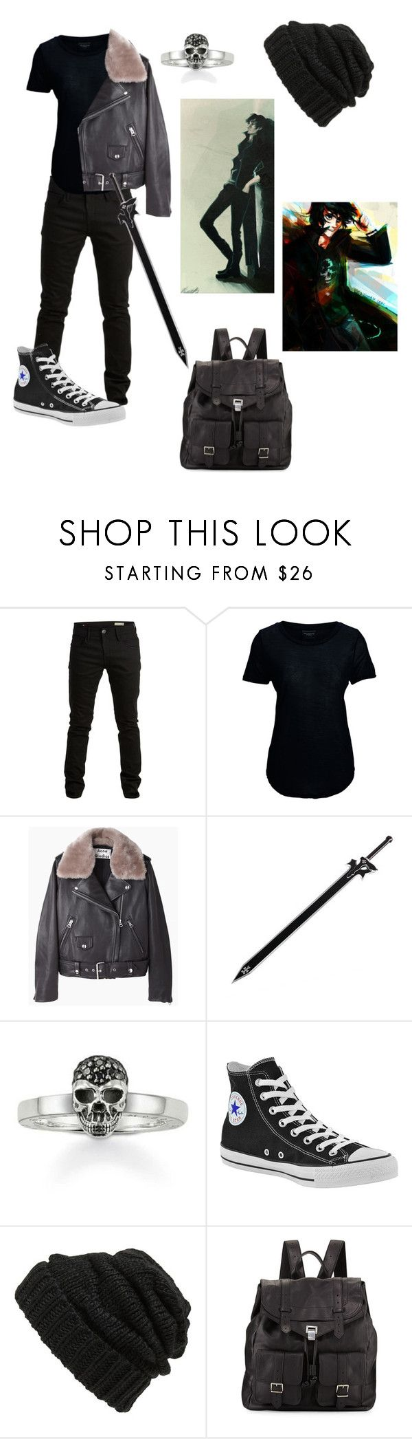 """Nico di angelo son of hades ❤️❤️❤️"" by gglloyd ❤ liked on Polyvore featuring SELECTED, Acne Studios, Kirito, Thomas Sabo, Converse, Leith and Proenza Schouler"