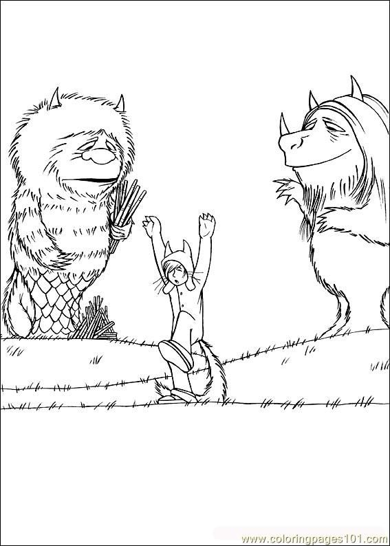 Where The Wild Things Are Coloring Pages #WhereTheWildThingsAre