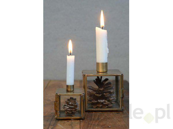 Świecznik Pudełko na Małe Świeczki mosiądzowe Ib Laursen 9411-17
