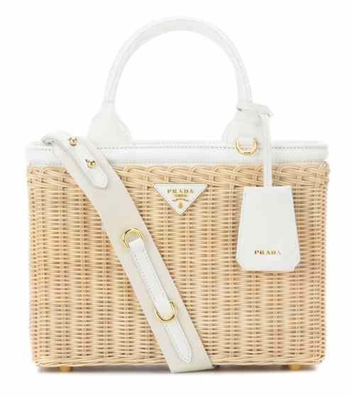 Wicker and canvas bag   Prada