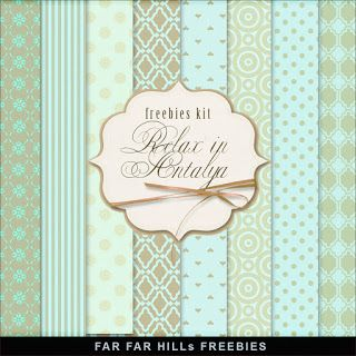 New Freebies Kit of Backgrounds - Relax in Antalya:Far Far Hill - Free database…
