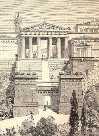 Propileos, reconstrucción s.XIX