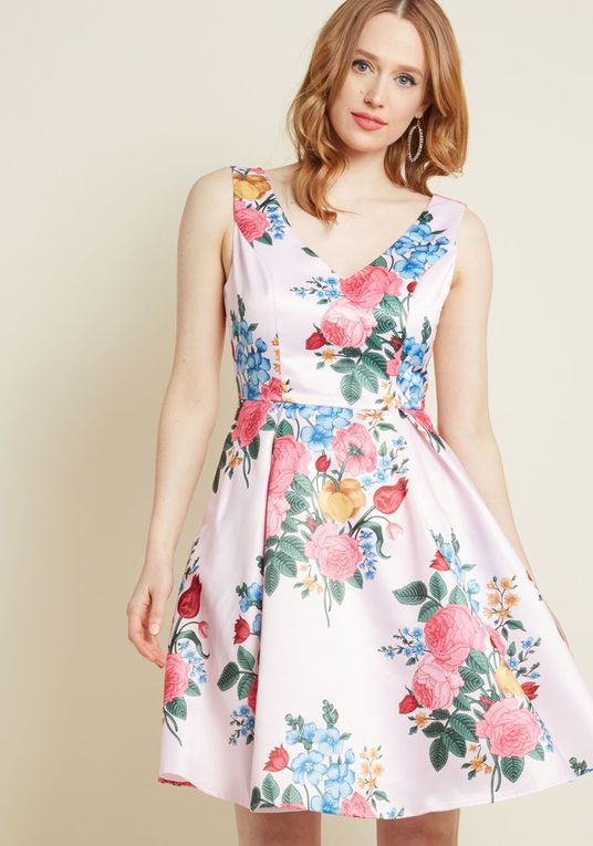 Ladylike Luxury Fit and Flare Dress in Peta