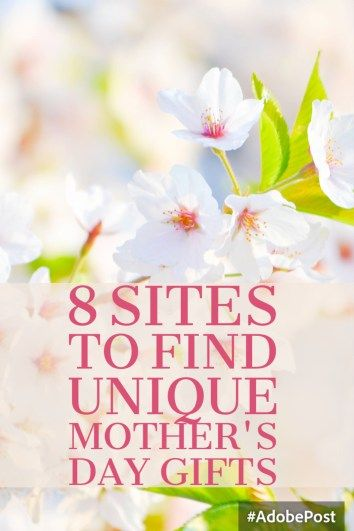 8 Sites to Find Unique Mother's Day Gifts - Millennial Mommy Site (scheduled via http://www.tailwindapp.com?utm_source=pinterest&utm_medium=twpin&utm_content=post78973959&utm_campaign=scheduler_attribution)
