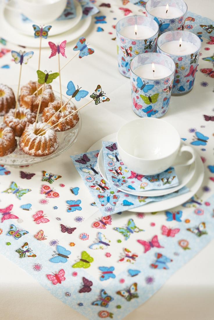 Paper + Design napkin - Handmade butterflies