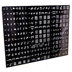 1 pieza plantillas placa / uñas 250 diseño del sello del arte grande clavo que estampa la plantilla de imagen (patrón aleatorio)