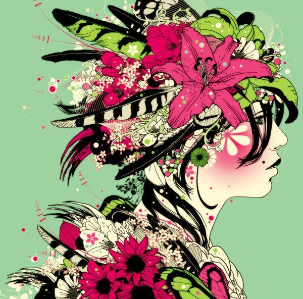 """DJ Okawari CD cover by MIRUMAgraph: """"diorama"""""""