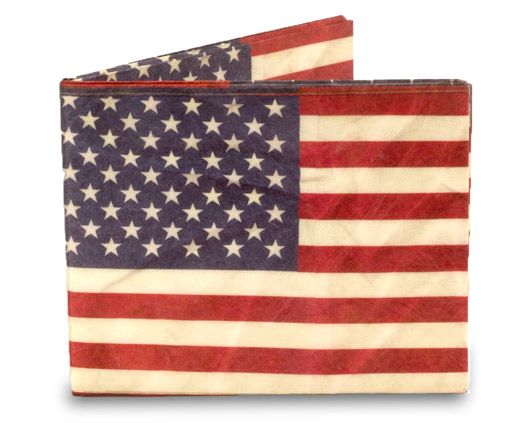 Show your love for Old Glory with the Stars and Stripes Mighty Wallet. $15.00