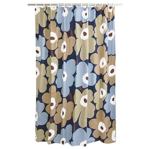 Marimekko Unikko Dusk Cotton Shower Curtain - Marimekko Shower Curtains $59.95
