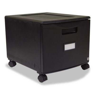 STOREX Single Drawer Mini File Cabinet with Lock and Casters Legal/Letter | Wayfair
