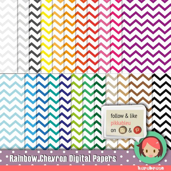 ----> http://butterland.etsy.com <----  Code: SC-014    INSTANT DOWNLOAD    ✄✄✄✄✄✄✄✄✄✄✄✄✄✄✄    23 digital papers in 12 inch format 300dpi Hi-Res, can be used for printables, scrapbooks, #chevron #pattern #wallpaper #colors #rainbow #karabraun #scrapbook #digitalpapers #download