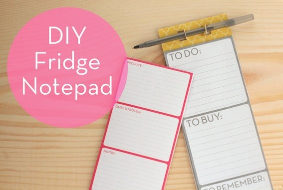 How to: Make a DIY Magnetic Notepad...with Free Downloads!