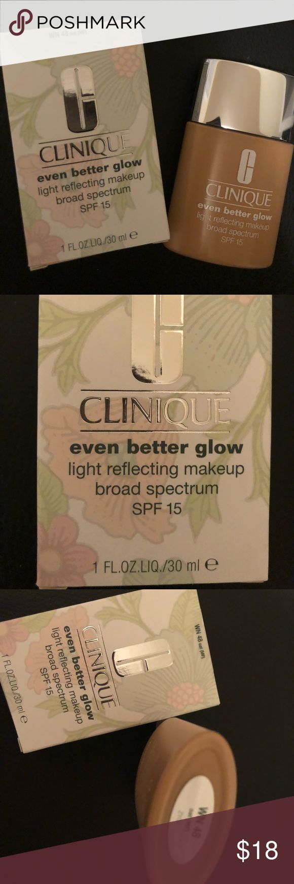 Even Better Glow WN 48 Oat (MF) Even Better Glow light reflecting makeup with SPF15 1Fl oz Color: Oat #48, warm neutral for medium fair skin Allergy Tested, 100% Fragrance Free, Sheer to Moderate coverage with a luminous finish. Oil Free Clinique Other
