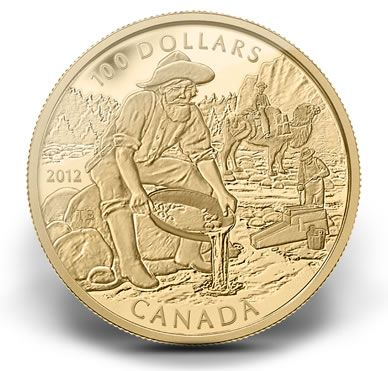 Royal Canadian Mint image of the Cariboo Gold Rush Anniversary Coin