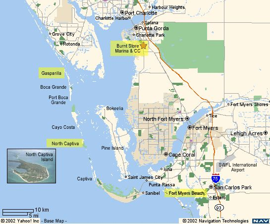 Map Of Captiva Island Area
