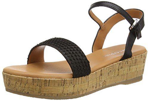 Marc O'Polo Wedge Sandal, Damen Durchgängies Plateau Sandalen, Schwarz (black 990), 39 EU - http://on-line-kaufen.de/marc-opolo/39-eu-marc-opolo-wedge-sandal-damen-durchgaengies-5