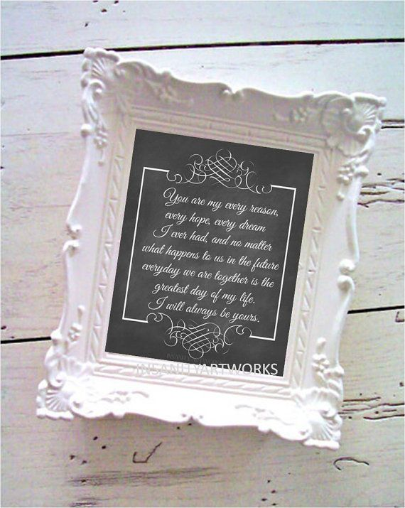 Notebook Movie Quote Every Reason Every Hope Every Dream Chalk Typography Print on Etsy, $12.00