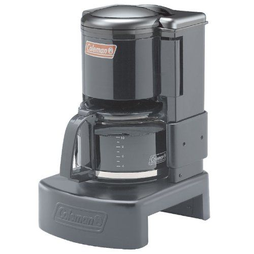 Enjoy the campsite sunrise the right way—with a cup of fresh coffee from the Coleman  Camping Coffeemaker. The steel base fits over most camp stove burners. Just pour enough water for up to 10 cups ...