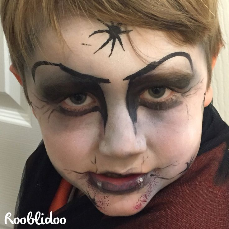 Dracula, vampire face paint by Rooblidoo