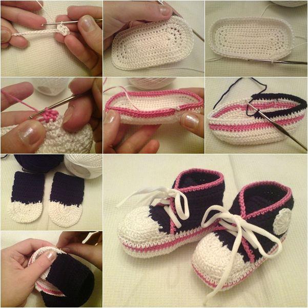 crochet baby converse sneakers tutorial #diycraft #crochet