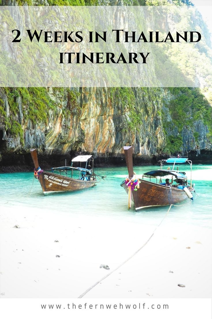Headed to Thailand? Here's a perfect two week itinerary taking you from Bangkok to the islands.