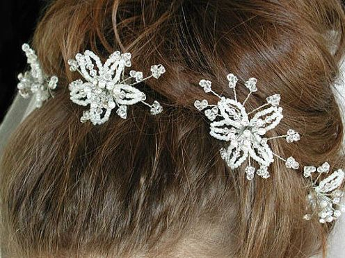 Swarovski Crystal Hair Pins, Swarovski Crystal Stars, Bridesmaid's Hair Accessories, Bridal Accessories, Wedding Accessories by Makewithlovecrafts on Etsy