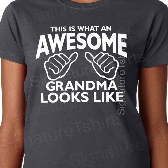 Mother's Day Gift for grandma Awesome Grandma t-shirt by signaturetshirts, $13.95