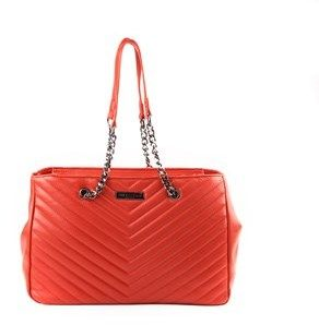 Suzy Levian Chevron Top Handle Shoulder Handbag.