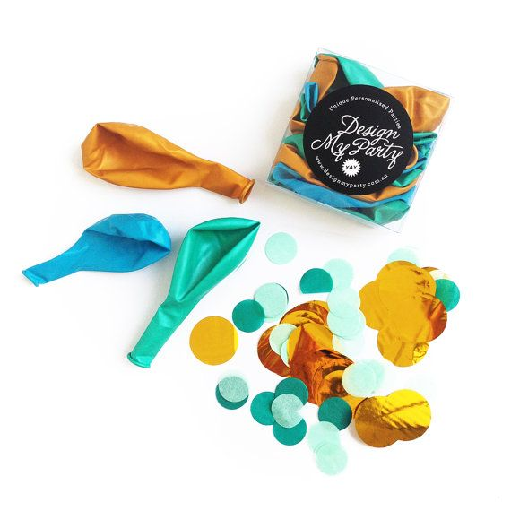Mermaid Glam Balloon Mix With 2 Confetti by DesignMyPartyShop