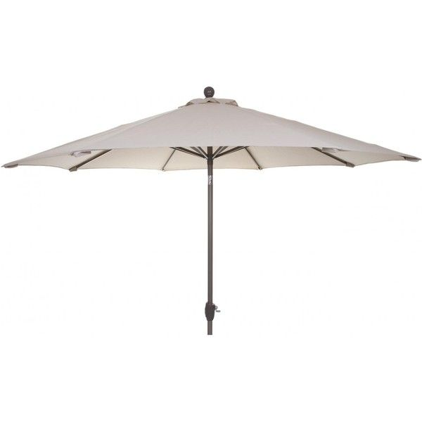 9 Ft Aluminum Patio Umbrella   Antique Beige Found On Polyvore Featuring  Home, Outdoors,