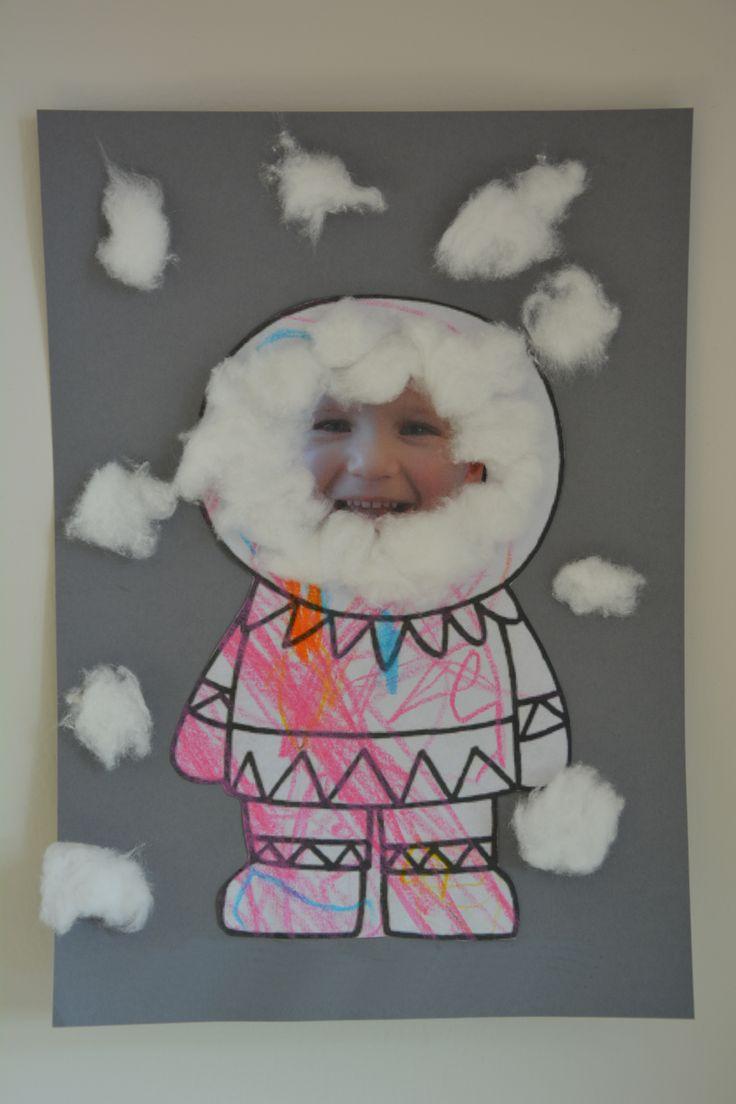 Ik heb deze speel gekozen zo kan je in koude weer samen met kindje iets leuk maken en hun foto's op plakken en deze thema past zeker bij winter tijd een eskimo maken .