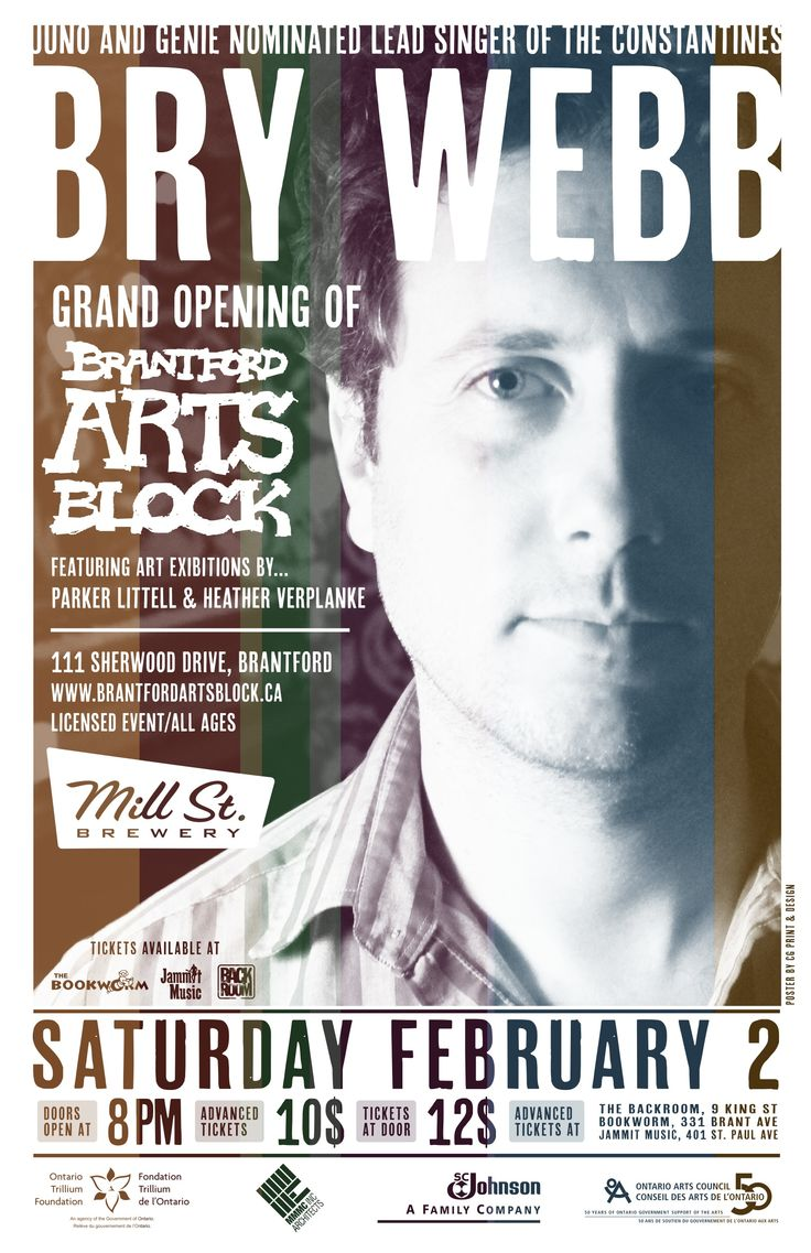 Bry Webb for the Grand Opening on February 2nd.