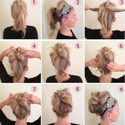 coiffure de soirée pour cheveux mi-long